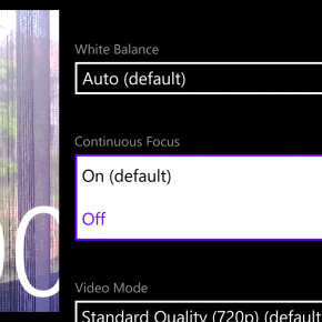 Mengatur Settingan Video pada Lumia920
